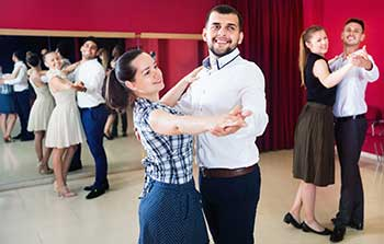 Couples Learning Ballroom Dance